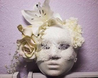 Blushing Bride- Hangabe Wedding Day Inspired Mask