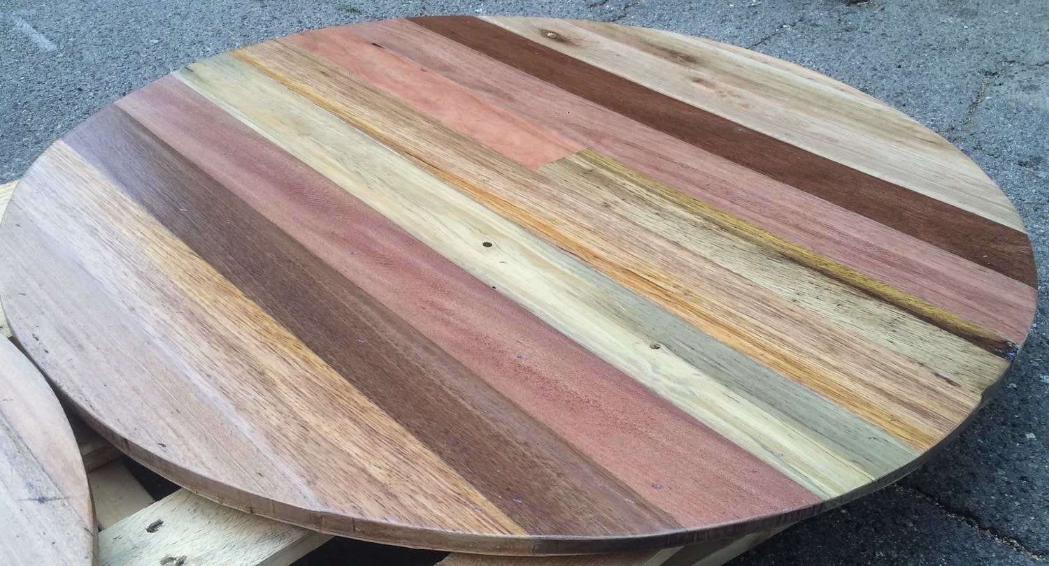 Round restaurant style table tops made to order sweet for How to make a pallet fire pit table