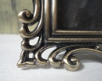 Vintage Bronzed Metal Ornate Frame