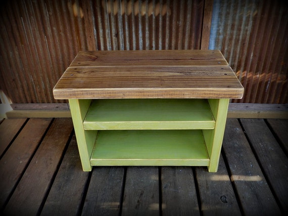 Small Shoe Rack Bench Avacado Green Base