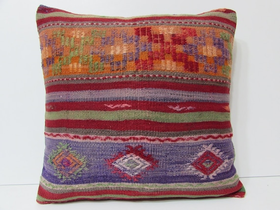 24x24 purple kilim pillow 24x24 large by DECOLICKILIMPILLOWS