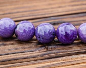 Charoite 12-13mm round beads (ETB00884)