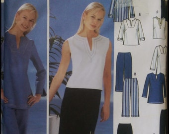 Simplicity 5568  Misses'/ Women's Pants in two lengths, Skirt And Tunic or Top   Size (10-18)  UNCUT