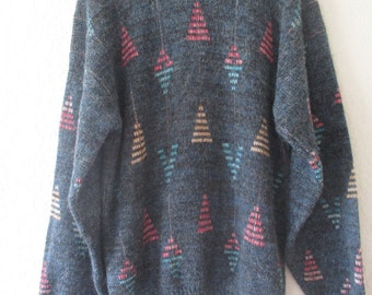 """Ugly """"Cosby"""" Sweater unique design of triangles and diamonds #C2"""