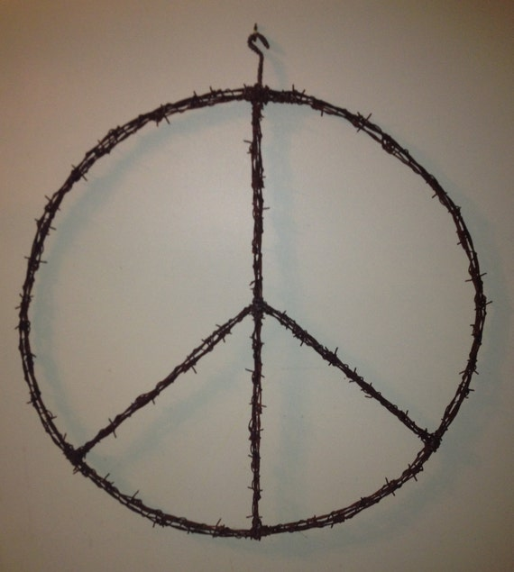 Items similar to barbed wire art on etsy