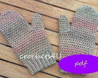crochet pattern mittens, crochet mittens, crocheted mittens, crochet for winter