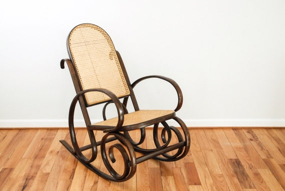 Rocking chair wood rocker bentwood rocking chair cane chair