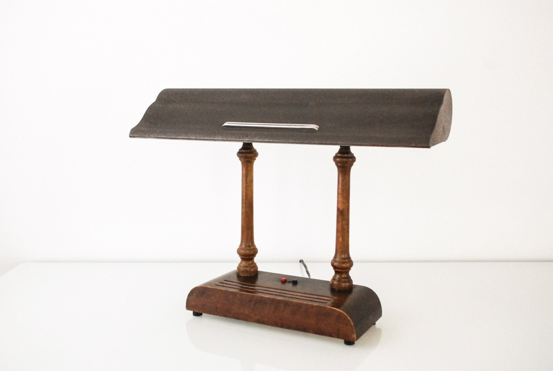 Desk Lamp Industrial Desk Lamp Art Deco Lamp Banker 39 S