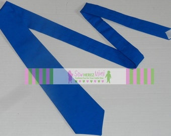 Royal Blue Necktie Sizes Infant, Child, Youth, Teen and Men