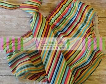 Cake Smash Set Multi Striped Photo Prop 1st Birthday Set Diaper Cover Necktie