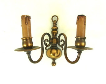 Decorative Electric Wall Sconces : Vintage electric wall sconce Etsy