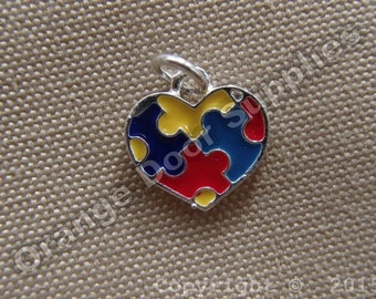 Autism Awareness Charm 16mmx16mm- 50 Pcs (ASD 101)