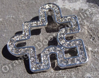 Autism Awareness Puzzle Piece Pendant 30mmx30mm- 10 Pcs (ASD106)