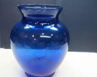 Ginger Jar Shape Cobalt Blue Urn  Vase