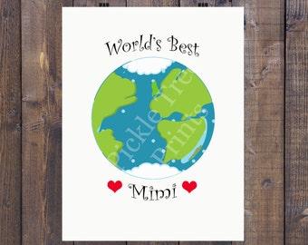 World s Best Mimi Print