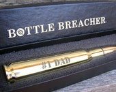 Dad Gift. Engraved .50 Caliber Bottle Opener with Bottle Breacher Gift Box. Father's Day Gift. Husband Gift. Dad Gift.