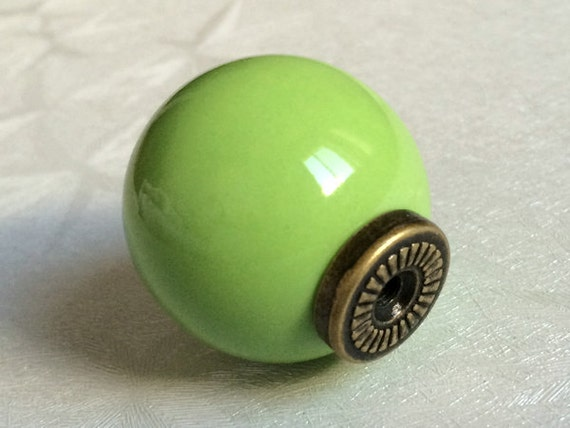 Green Knobs Kitchen Cabinet Knobs Dresser Knob Drawer Knobs