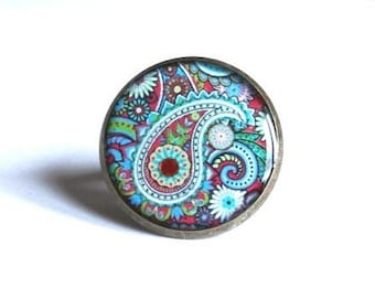 PAISLEY RING - Bohemian Jewelry - BOHO Ring - Holiday Gift for Her