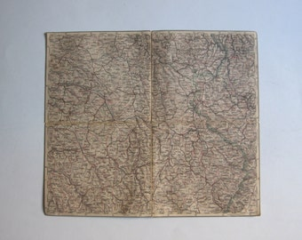 1886 map of Luxemburg, Metz, Chalons