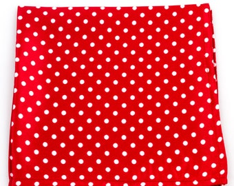 The Red and White Polka Dot Pocket Square