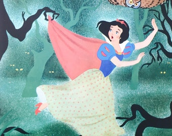 Disney Vintage Art Print - Snow White