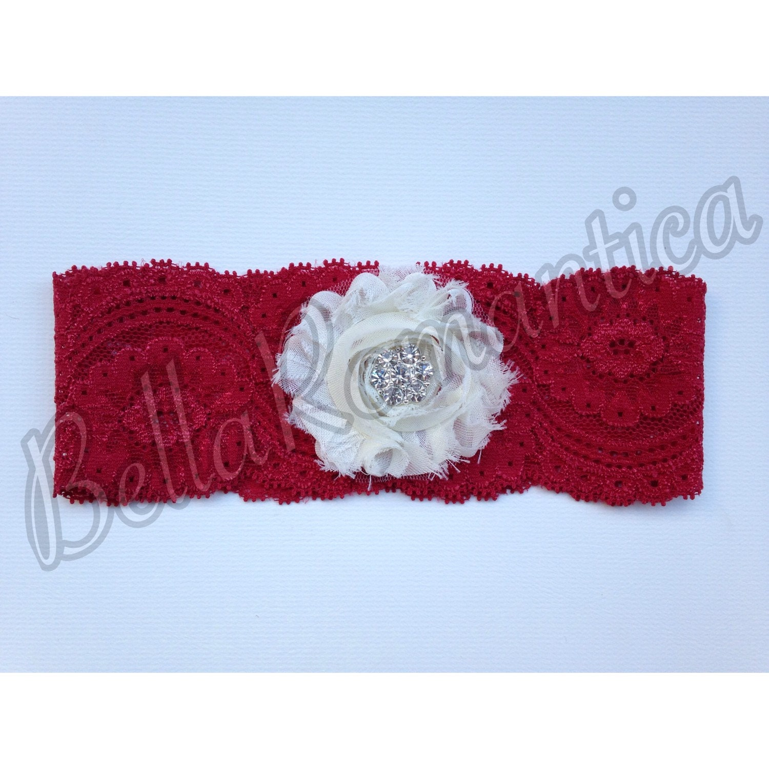 Red Wedding Garters: Red Wedding Garter Red Garter Bridal Garter By BellaRomantica