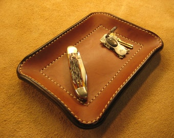 Leather Valet Tray - 10 x 8