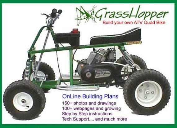 Items similar to grasshopper atv plans adobe pdf file for Quad home plans