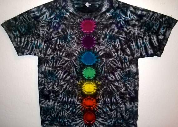 Tie dye chakra t shirt custom made one of a kind for Customized tie dye shirts