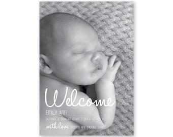 Welcome Birth Announcement - Digital File