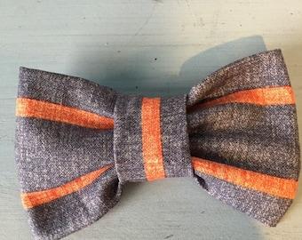 Orangs Striped Bow Tie