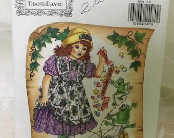 1993 Butterick 6604 MOLLIE MAKEBELIEVE Girls' Dress pattern sz 3-4-5-6 UNCUT