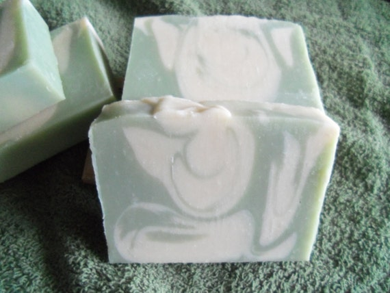 Lily of the Valley Scented Cold Process Soap with Shea Butter--50% OFF