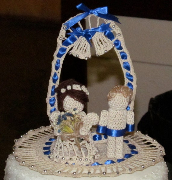 crochet wedding cake custom crochet wedding cake topper 13094