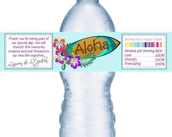 98 Lual Wedding Water Labels