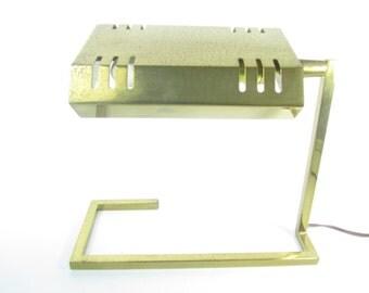 Danish Modern Desk Lamp, Vintage Light, Metal Light, Brass Desk Lamp