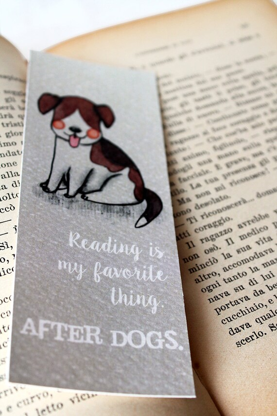 dog lovers bookmark with a cute beagle dog