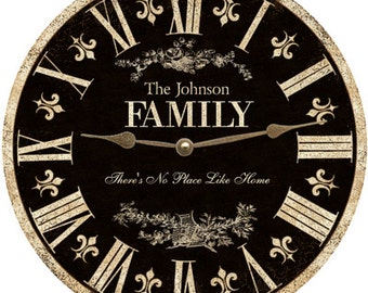 Family Clock. Personalized Family Clock
