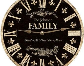Family Clock. Personalized Family Clock