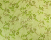 Green Embroidered Double Scallop Edge Lace Fabric by the yard - 1 Yard style 2411