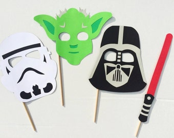 Star Wars Photo Booth Props ; Birthday Party Photo Prop ; Space ; Sci-Fi Party Decor