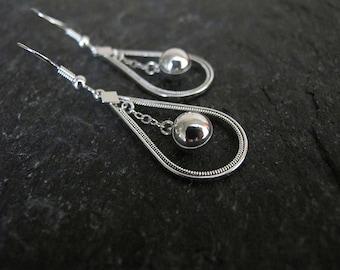 Jewelry,Earrings, Silver earrings , Filigree earrings ,  drop earrings, Israel jewelry