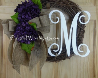 spring wreath - personalized wreath - easter wreath - summer wreath-wreaths - mothers day wreath -  wedding-housewarming