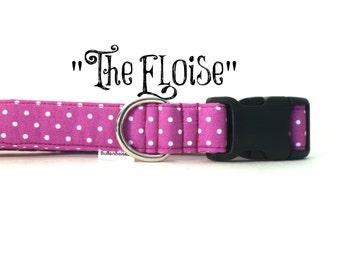 "Orchid Purple Polka Dot Girl Hypoallergenic Dog Collar, ""The Eloise"" by Bullenbeisser"