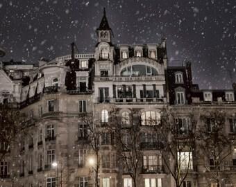 Paris Photography, Paris Art, Paris Prints, French Art, French Photo, Paris Brown, Blue Winter Snow, Paris Photo, Print, France, Paris