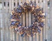 Rustic  Wreath, Rag  Wreath,  Berry Wreath,  Primitive Wreath, Lodge  Wreath, Country Wreath, Cottage Wreath, Shabby Wreath, Door Wreath