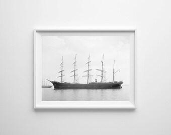 "18"" x 26"" - Vintage Photography, Large Print of Sailing Ship"