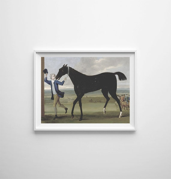Wall Art Black Horse : Kids room wall art black horse