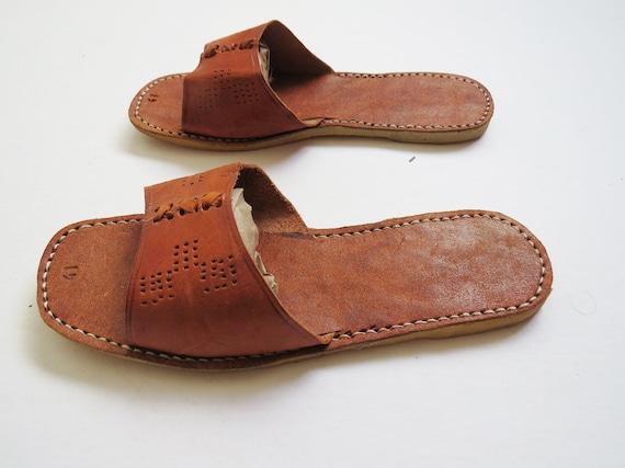 Sandales de cuir pour le c t piscine mexicaine taille 65 for Sandales de piscine