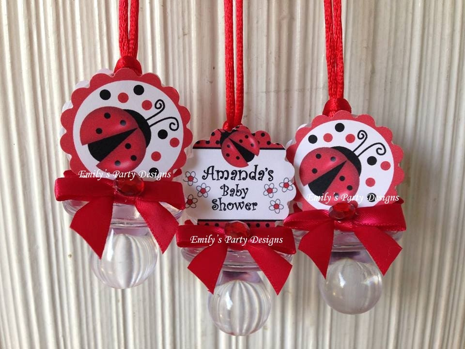 ladybug pacifier baby shower favor ladybug baby by designsbyemilys